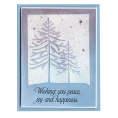 Visit Archiver's Online for creative ideas to preserve your most precious memories! Winter Christmas, Merry Christmas, Holiday Cards, Christmas Cards, Joy And Happiness, Hero Arts, Blue And Silver, Craft Projects, Paper Crafts