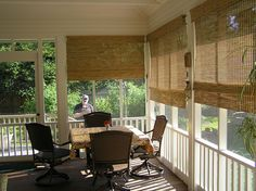 Privacy Shades for Screened Porch | Outdoor blinds for screen porch