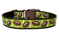 Football Dog Collar by Wagologie