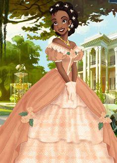 Kida Disney, Disney Princess Tiana, Princesas Disney, Tangled Princess, Frog Princess, Princess Merida, Princess Bubblegum, Black Girl Art, Black Women Art