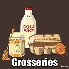 Funny Grosseries Groceries Joke Picture | Funny Joke Pictures