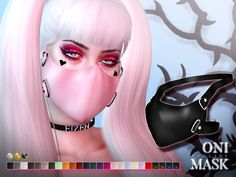 The sims 4 oni mask sims cc, sims 4 cas, my sims, sims resour Sims Four, Sims 4 Mm, Sims 4 Mods Clothes, Sims 4 Clothing, Los Sims 4 Mods, Sims 4 Anime, The Sims 4 Packs, Oni Mask, Sims 4 Cc Makeup