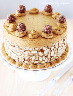 Mocha Espresso birthday cake ~ velvety cake with coffee flavor icing. Vegan too! Plus tutorials on cake decorating.