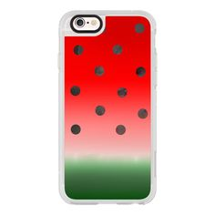 Watermelon - iPhone 7 Case, iPhone 7 Plus Case, iPhone 7 Cover, iPhone... ($40) ❤ liked on Polyvore featuring accessories, tech accessories, case, phone cases, iphone case, phone, iphone cover case, apple iphone case, iphone cases and iphone hard case