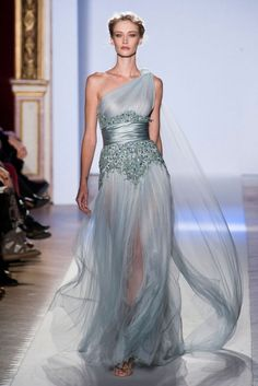 Glamorous sky blue gown at Zuhair Murad Spring Summer Couture 2013 #HauteCouture #HC #Fashion