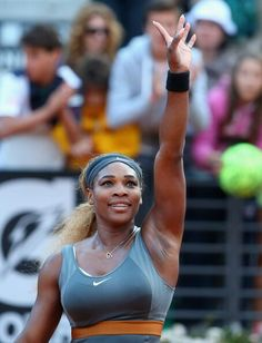 5/17/14 RENA INTO ITALIAN OPEN FINALS! World #1's Title Defense On Course! ..  Via    Vicenç Palau ‏@VicenxuPalauet Serena Williams of USA celebrates defeating Ana Ivanovic of Serbia during day 7 of the Internazionali BNL d'Italia. --- <3 #RenasArmy