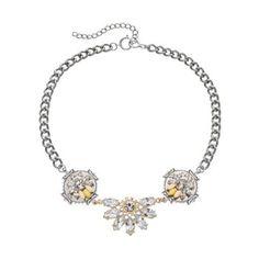 Juicy Couture Open Pave Broken Heart Pendant Necklace, 33\
