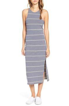 Roxy 'Ano Nuevo' Stripe Stretch Knit Midi Dress