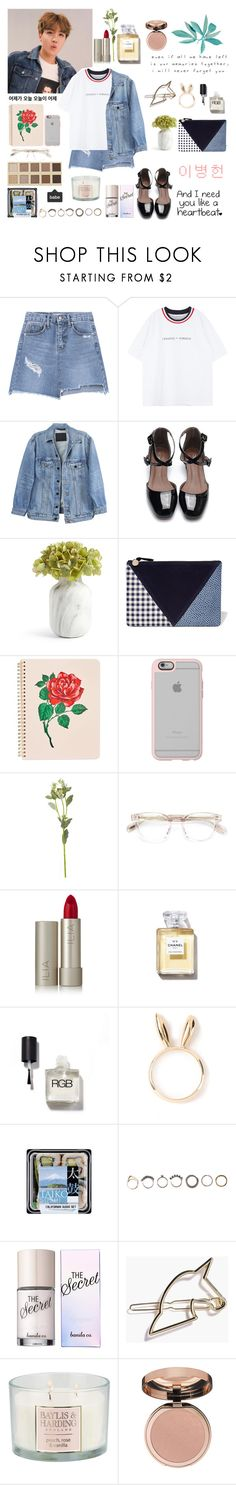 """""""Jung Hoseok _ J - Hope"""" by soojinchoi ❤ liked on Polyvore featuring Y/Project, Clare V., ban.do, Casetify, OKA, Oliver Peoples, Ilia, Chanel, Natasha Zinko and LORAC"""