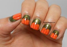 Fall Manicure: Pumpkin