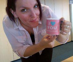 Em, loving her personalised GiveLube mug!!