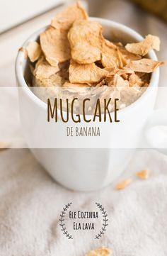 Esta é mais uma versão de um mugcake saudável  que podes adicionar ao teu dia-a-dia. Como pequeno-almoço rápido ou como snack! É sem açúcar e leva banana.