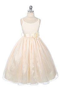 Flower Girl Dresses -Flower Girl Dress Style 185- Ballerina Style Dress in Choice of Color