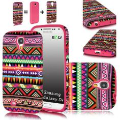 E LV Tribal Design 2 in 1 Hard and Soft Hybrid Armor Combo Case for Samsung Galaxy S4 S IV i9500 (Samsung Galaxy S4, Hot Pink) Elv,http://www.amazon.com/dp/B00DDI9CU0/ref=cm_sw_r_pi_dp_07Wytb1H0Z6JWSKW