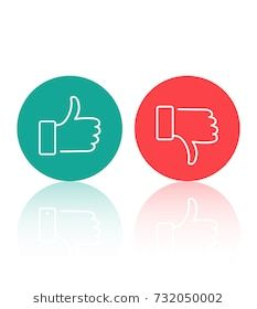 Like And Dislike Icons Set Thumbs Up And Thumbs Down Modern Graphic Elements For Web Banners Web Sites Printed Materials Inf Icon Set Web Banner Line Icon