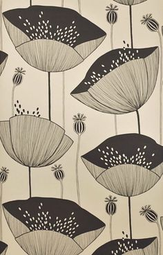 Poppy Limestone Wallpaper- Did they say poppy wallpaper? Surface Pattern Design, Pattern Art, Poppy Pattern, Textures Patterns, Print Patterns, Design Patterns, Design Ideas, Blush Wallpaper, Mad About The House
