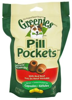 GREENIES Pill Pocket Soft Dog Treats *** Click image for more details. (This is an affiliate link and I receive a commission for the sales)