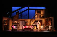 Set for VANYA & SONIA & MASHA & SPIKE at Stagecrafters in Royal Oak, MI. Set design by Drew Hall, set dress by Doris E. Boris.