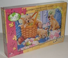 Serendipity Susan Brabeau Puppy Dogs Jigsaw Puzzle Puppies New Puzzle Maker, Tim Hortons, Serendipity, Baby Quilts, My Ebay, Decorative Accessories, Board Games, Dogs And Puppies, Your Dog