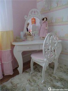 penteadeira provençal infantil Organization Skills, Kids Seating, Kids Furniture, Vanity, Inspiration, Bedrooms, Design, Home Decor, Coat
