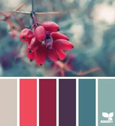 Color pallet for a winter wedding