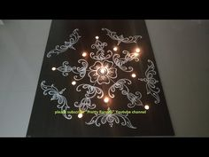 How to draw Beautiful rangoli with dots Indian Rangoli Designs, Rangoli Designs Latest, Simple Rangoli Designs Images, Rangoli Designs Flower, Rangoli Border Designs, Rangoli Ideas, Rangoli Designs With Dots, Rangoli With Dots, Easy Rangoli