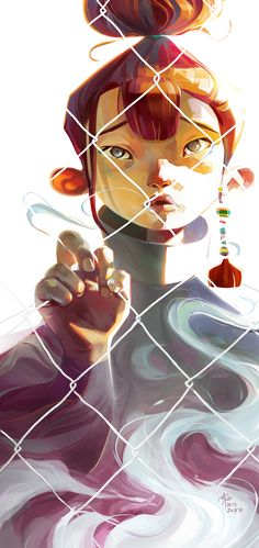 Beautiful & poignant > Behind the Fence by Ellie Yong https://www.behance.net/gallery/28091957/Behind-the-Fence?utm_content=buffer16f25&utm_medium=social&utm_source=pinterest.com&utm_campaign=buffer #artoftheday #illustration