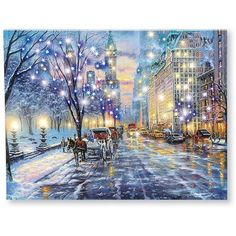 Lighted Central Park Canvas Wall Art (4.490 HUF) ❤ liked on Polyvore featuring home, home decor, wall art, home wall decor, canvas home decor, interior wall decor, lighted canvas wall art and lit wall art