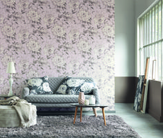 CASADECO, editor of wallpaper and upholstery fabrics Gris Rose, Of Wallpaper, Love Seat, Couch, Elegant, Furniture, Home Decor, Upholstery Fabrics, Motif Floral