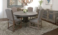 Wells round dining table.
