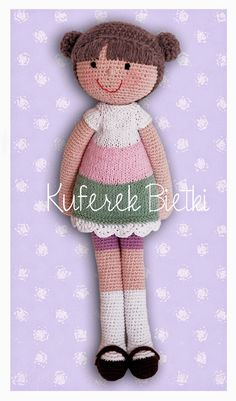 Kuferek Bietki: Jette - lalka na szydełku/ Jette, Gehäkelte Puppe