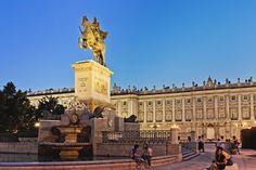 Madrid, Palacio Real. Galileo Galilei fue asesor en la ejecución de la estatua de Felipe IV
