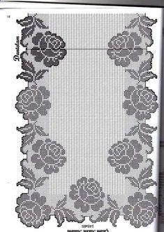 Crochet everything. Crochet Table Runner Pattern, Crochet Doily Patterns, Crochet Tablecloth, Crochet Doilies, Cross Stitching, Cross Stitch Embroidery, Crochet Mat, Diy Crafts Crochet, Filet Crochet Charts