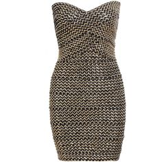 Gold Strapless Zipper Bodycon Dress and other apparel, accessories and trends. Browse and shop 11 related looks.