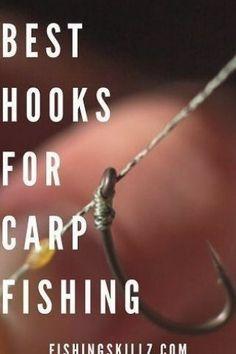 The Best Hooks For Carp Fishing (Plus What Size h To Use!) Fishing Skillz H #Carp #fishing #hooks #lake fishing tips bait #Size #Skillz