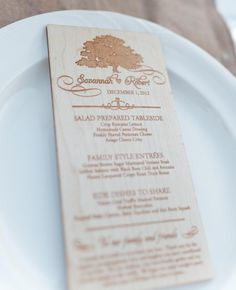 8 Woodgrain Wedding Details We Love | Photo by: Andi Mans Photography | TheKnot.com