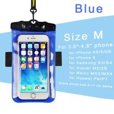 Universal Waterproof Case for iPhone 6 5S 5C 5 Underwater Bag For Xiaomi Meizu phones cover for samsung galaxy S5 S6 note 4/5/3