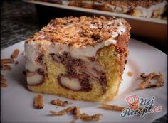 Recept Řezy Macecha - pudinkový řez se zakysanou smetanou Matcha, Sweet Recipes, Tiramisu, Banana Bread, Sweet Tooth, French Toast, Muffin, Pie, Sweets