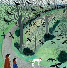 'Coming Home To Roost' By Dee Nickerson.  Blank Art Cards By Green Pebble.