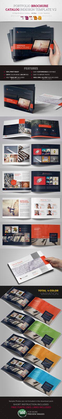 Portfolio Brochure InDesign Template v2 Creative, Clean and Modern Portfolio Brochure Template, ready to use for Corporate, Busine