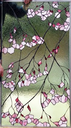 cherry blossom stained glass