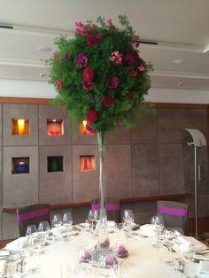 Flowers table-decoration - Blumenschmuck für den Hochzeitstisch