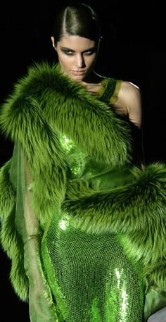 Tom ford - would love if obviously faux fur! Come on people, it's an easy, ethical switch!  Well, the truth is, if you're wearing this sort of thing you're not much into reality. Ha. Though the dead animals slung around your shoulders are real enough.                                                                                                                                                                                 More