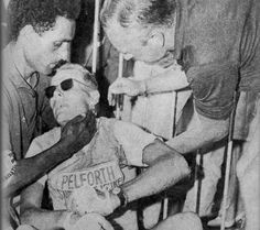 Jan Janssen exhausted after the 16th stage of the 1964 Tour the France. This stage was 200 k long, from Luchon to Pau, and featured the following climbs: Peyresourde, Aspin, Tourmalet, Soulor and Aubisque.