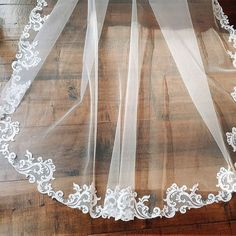 Our baroque lace veil is available in a variety of lengths and colors to suite any brides style! It's the perfect accessory to compliment…