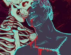 gay for will graham — I've been trying to learn more digital techniques,. Nbc Hannibal, Hannibal Lecter, Art And Illustration, Grunge, Tumblr Art, Memento Mori, Character Concept, Dark Art, Film