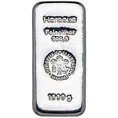 Heraeus Silver Bar - 1 kg - VAT FREE