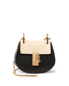 Drew Mini Colorblock Shoulder Bag, Black/Nude - Chloe