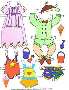 Dossie Bubble's PAPER DOLLS All Paper, Vintage Paper Dolls, Retro Toys, Paper Toys, Art Pages, Free Paper, Bubbles, Crafts, Bebe
