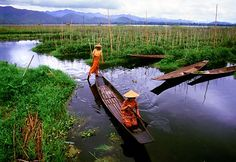 Inle Lake, Mynamar.  Incredible city!  Villagers live and farm entirely on water to be able to produce more abundantly.